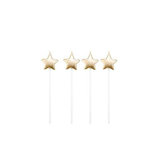 Vela Dourada Estrela 4 unids