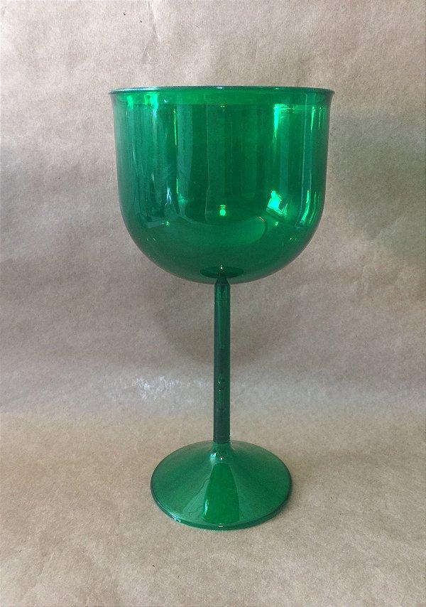 Taça Acrilica 500ml Gin Verde Duravel unid