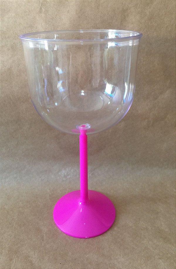 Taça Acrilica 500ml Gin Cristal Pink Duravel unid