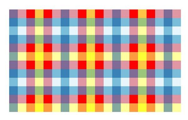 Toalha perolada 80x80 Xadrez Colorida 10 unids