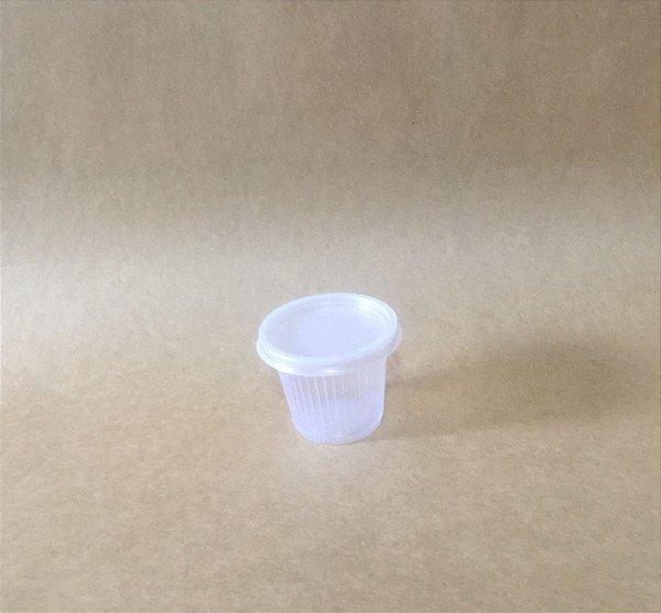 Kit Copo+Tampa 50ml Translucido Plastico 100 unids