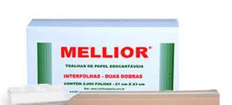 Toalha Interfolha Branca Luxo Mellior 2d (22x20,5) 1000 fls