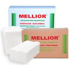Toalha Interfolha Branca 100% Celulose Mellior 2d (22x20,5) 1000 fls