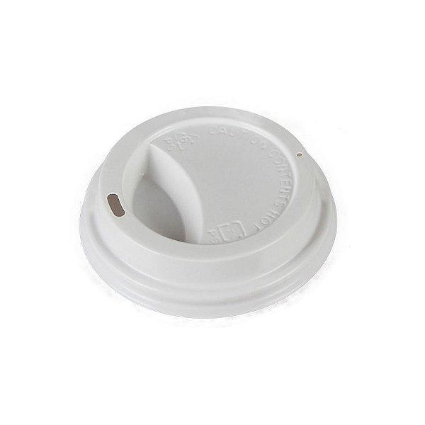 Tampa Plastica Copo Papel 210ml Capuccino Bca (73mm) 1000 unids