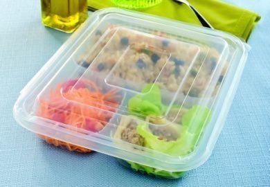 Embalagem Marmita 3divisões 810ml tampa acoplada freezer e micro (G323) 100unids