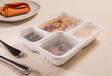 Embalagem Marmita 4divisões 1200ml c/tampa freezer e micro (G324) 100 unids