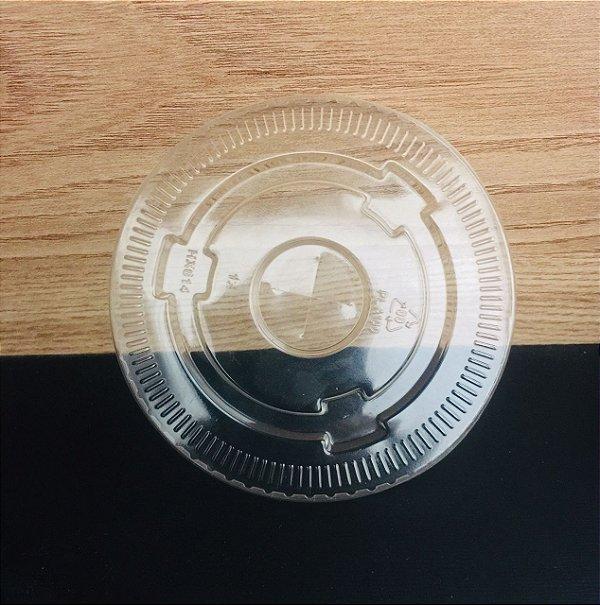 Tampa Plastica Copo Papel 300ml 50 unids