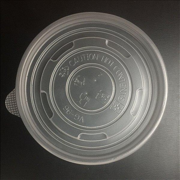 Tampa Pote Papel 180ml Plastica (PP) 50 unids