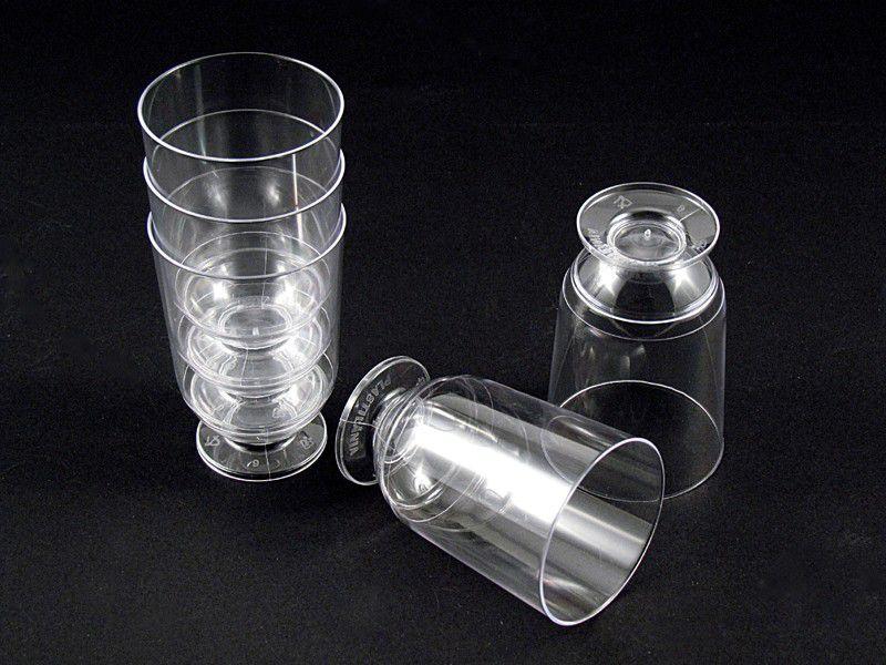 Taça Acrilica 045/50ml cristal 10 unids
