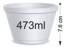 Pote isopor 473ml Darnel 500 unids