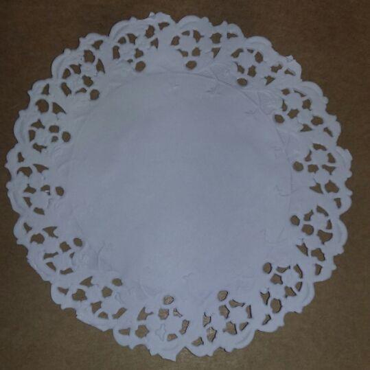 Toalha Rendada Papel Mago (Doilies) mod 130 (13 cm) 100 unids