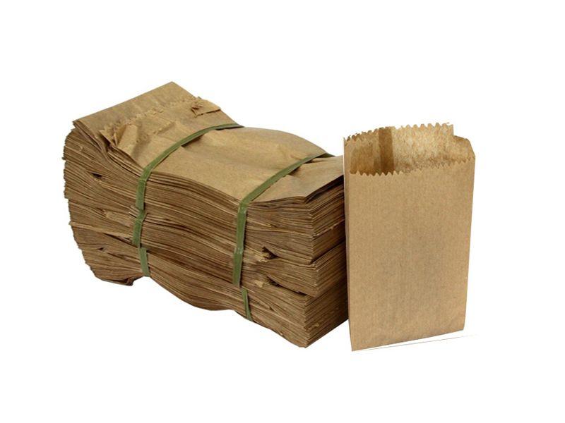 Saco papel Semi Kraft 1kg 500 unids
