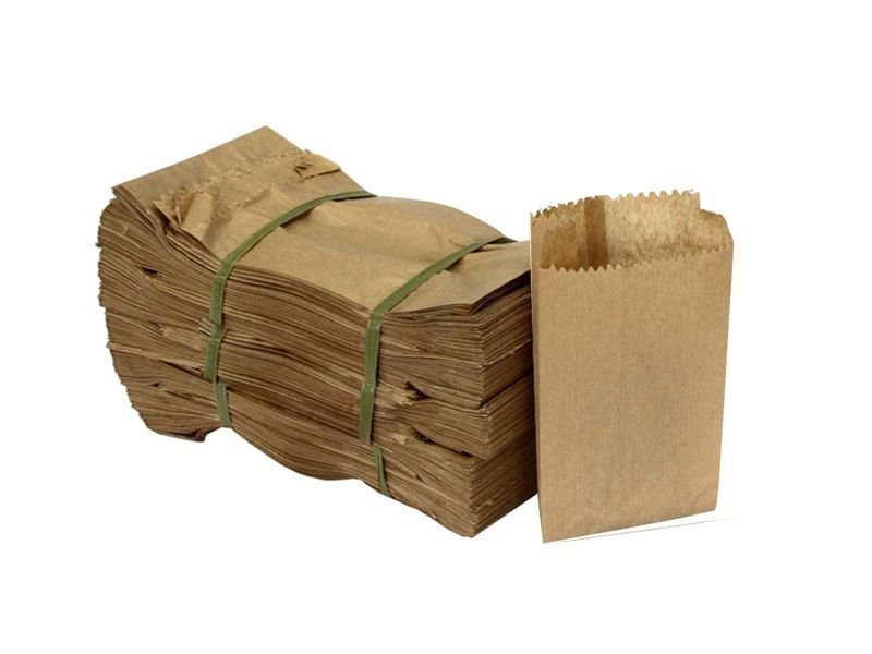 Saco papel semi kraft 3kg c/500 unids