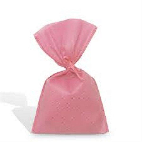 Saco Tnt 15x30 Rosa c/ cordão unid (consultar na loja disponibilidade)
