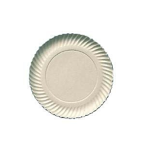 Prato Papelão Branco nº06 (25cm) 100 unids