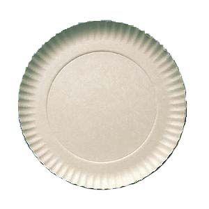 Prato Papelão Branco nº10 (34,5cm) 100 unids