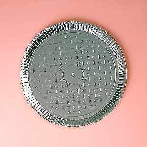 Prato papelão laminado nº 08 (38,5cm) unid