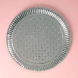 Prato papelão laminado nº 09 (43,5cm) unid