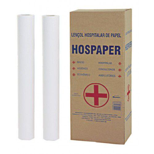 Lençol Hospitalar 50x50 Hospaper 6 rolos