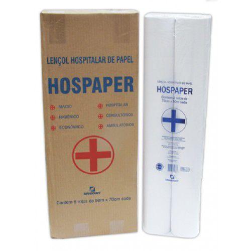 Lençol Hospitalar 70X50 Hospaper 06 rolos