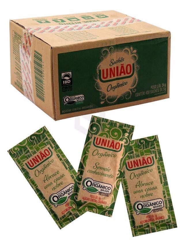 Açúcar Sachê União Orgânico 400 unids
