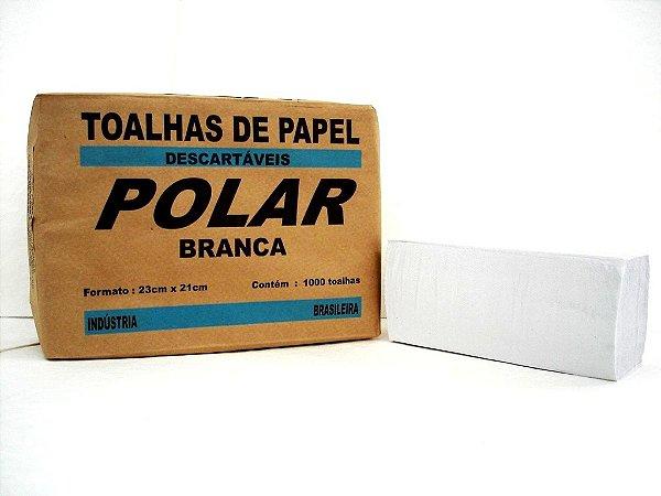 Toalha Interfolha Branca Polar Simples 2d (23x21) 1000 fls