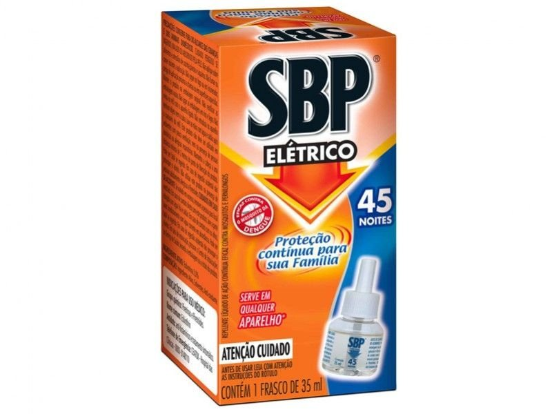 Inseticida Sbp Eletrico Refil 32ml 45 noites unid