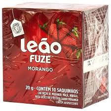 Chá Leão Morango c/ 10 (sachê)