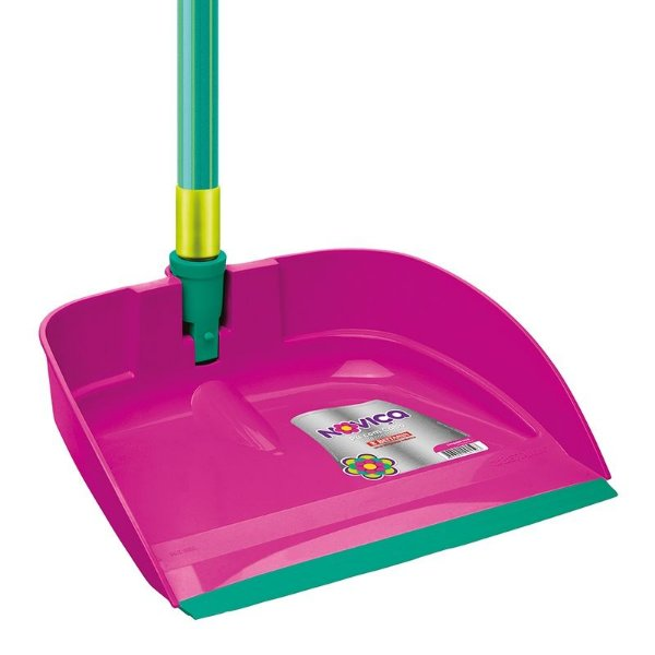 Pá lixo plastica cabo longo Jeitosa Pink Bettanin unid