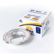 Marmitex Aluminio nº08 850ML (maquina) tampa aluminio Wyda 100 unids