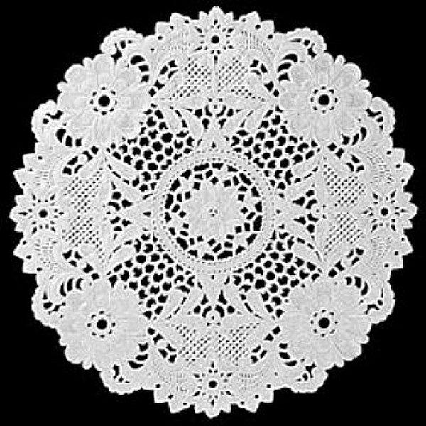 Toalha Rendada Papel Mago (Doilies) mod 252 (25 cm) c/12 unids