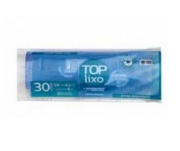 Saco lixo 30lts Azul rolo c/ 30