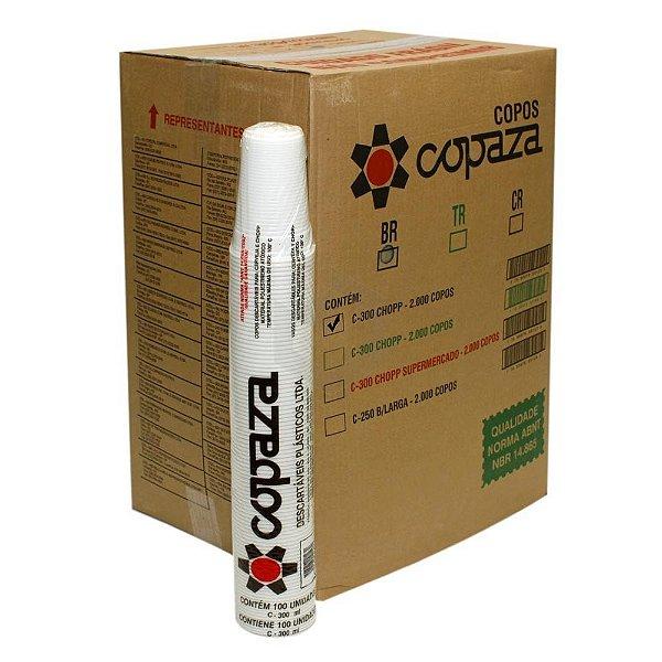 Copo descartavel 300ML Branco Copaza 2000 unids