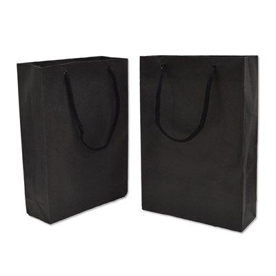 Sacola papel Preta 16x12x5 (M) c/10 unids