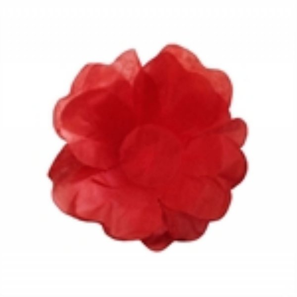 Forma Papel Seda Flor Vermelha c/40 unids (consultar disponibilidade antes da compra)