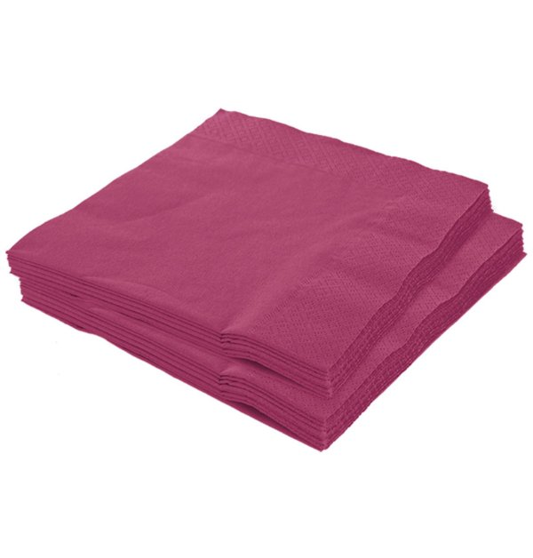 Guardanapo 25x25 Pink Fl Dupla 20 unids (consultar disponibilidade na loja)