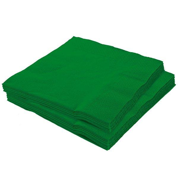 Guardanapo 25x25 Verde Fl Dupla 20 unids (consultar a disponibilidade na loja)