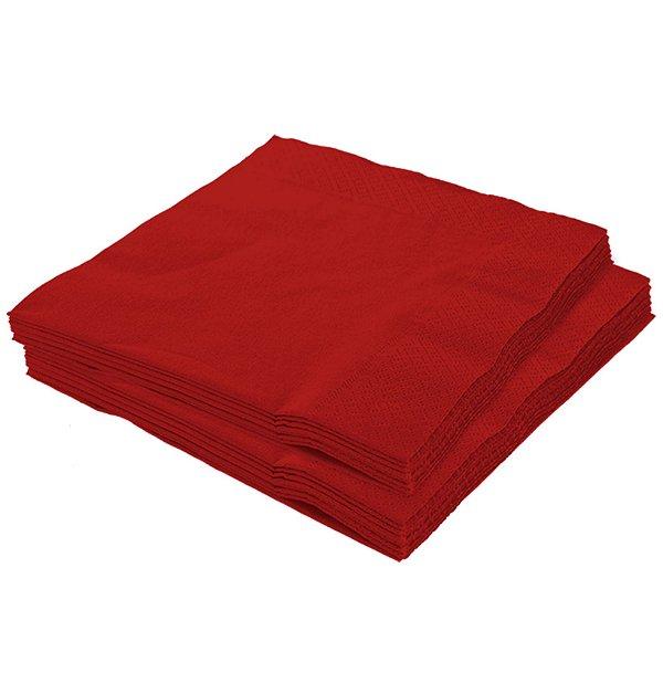 Guardanapo 25x25 Vermelho Fl Dupla 20 unids (consultar disponibilidade na loja)
