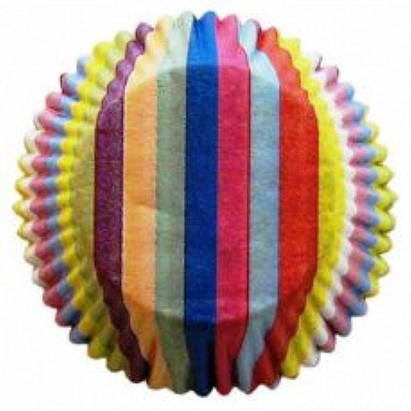 Forma papel Mini Cupcake Arco Iris c/45 unids (consultar disponibilidade antes da compra)