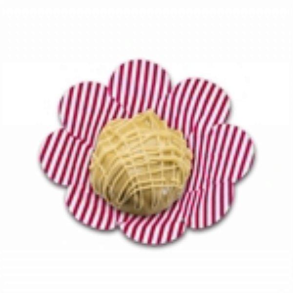Forma Papel Cartão Flor Listras Pink c/50 unids(consultar disponibilidade antes da compra)