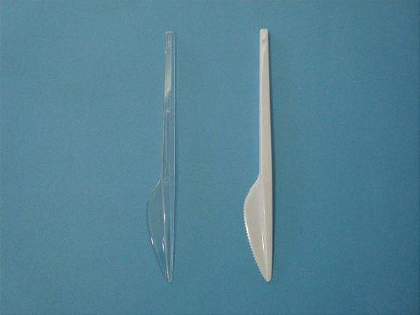 Faca Desc Refeição Simples Cristal Plastilania c/50