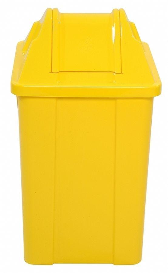 Cesto 100lts Amarelo Quadrado tampa vai e vem unid