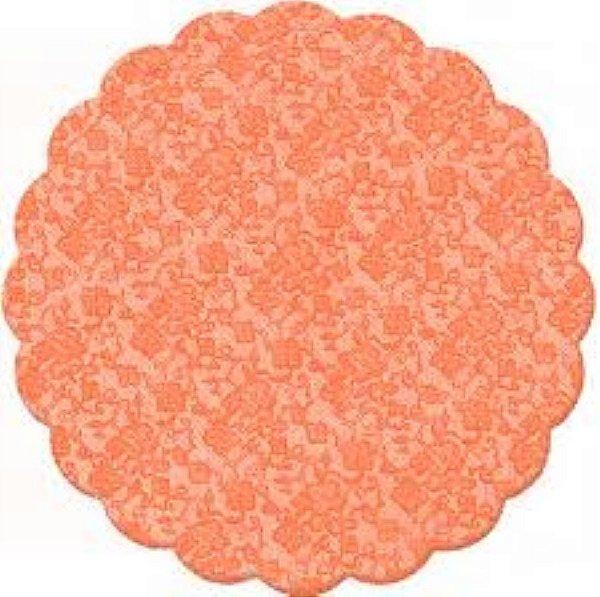 Fundo rendado celofane (Bopp) 07cm laranja c/100 unids