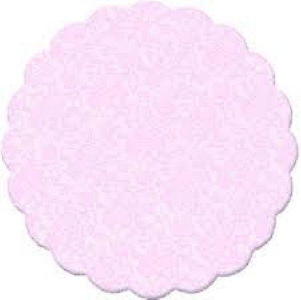 Fundo rendado celofane 07cm rosa c/100 unids