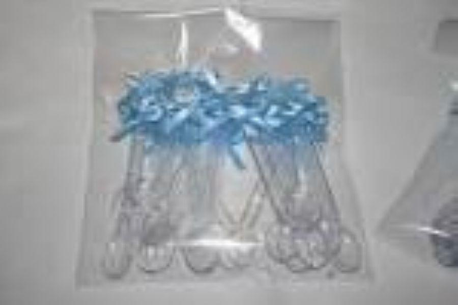 Mini colher laço azul claro 20 unids (consultar disponibilidade antes da compra)