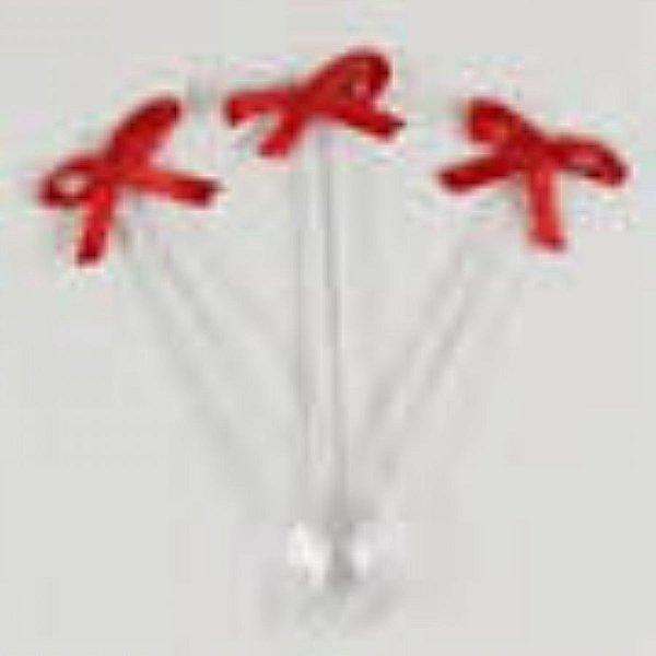 Mini colher com laço vermelho 20 unids (consultar disponibilidade antes da compra)