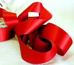 Fita Cetim nº05 Vermelho (22mm) 10mts unid (consultar disponibilidade na loja)