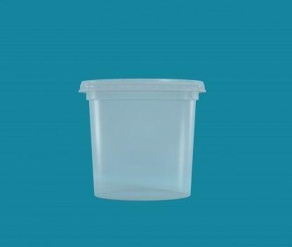 Pote Cristalpote PP 380ml c/tampa 25 unids