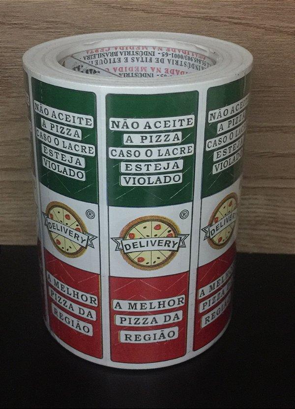 Etiqueta Lacre - Nao aceite - Pizza Delivery 3mmx100mm 500 unids