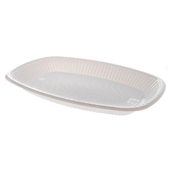 Travessa Plastica Pequena Branca Trik Trik c/10 unids (consultar disponibilidade antes da compra)